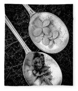 Old Silver Spoons Fleece Blanket