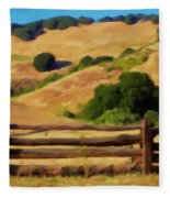 Old Split Rail Fence Fleece Blanket