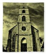 Old St. Mary's Church In Fredericksburg Texas In Sepia Fleece Blanket