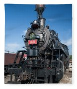 Old Steam Engine Fleece Blanket