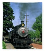 Old Steam Train Fleece Blanket