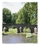 Old Stone Arch Bridge Fleece Blanket
