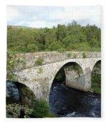 Old Stone Bridge In Scotland Fleece Blanket
