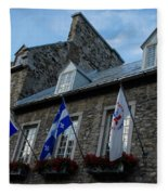 Old Stone Houses In Quebec City Canada  Fleece Blanket
