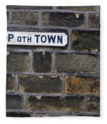 Old Street Sign Fleece Blanket
