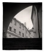 Old Streets In Prague Fleece Blanket