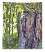 Old Stump Fleece Blanket