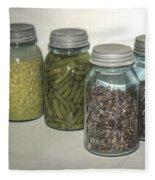 Old Style Vintage Kitchen Glass Jar Canning Fleece Blanket