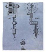 Old Tattoo Gun Patent Fleece Blanket