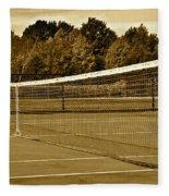Old Time Tennis Fleece Blanket