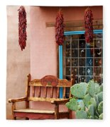 Old Town Albuquerque Shop Window Fleece Blanket