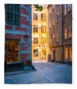 Old Town Alley Fleece Blanket
