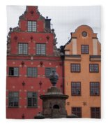 Old Town Architecture Fleece Blanket