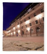 Old Town In Stockholm At Night Fleece Blanket