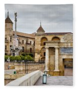 Old Town Of Cordoba In Spain Fleece Blanket