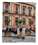 Old Town Of Seville In Spain Fleece Blanket