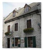 Old Town Quebec Canada Fleece Blanket