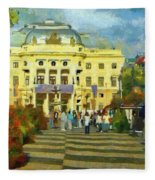 Old Town Square Fleece Blanket