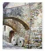 Old Towns Of Tuscany San Gimignano Italy Fleece Blanket