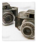 Old Toy Cameras Fleece Blanket