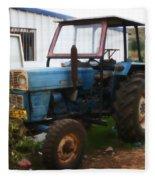 Old Tractor I Fleece Blanket