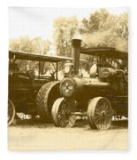 Old Tractors Fleece Blanket