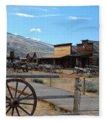 Old Trail Town   Fleece Blanket