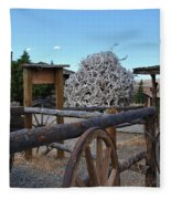 Old Trail Town -  Wyoming Fleece Blanket