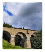 Old Train Viaduct In Poland Fleece Blanket