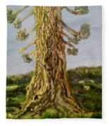 Old Tree In Spring Light Fleece Blanket