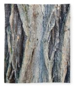 Old Tree Wrinkles Fleece Blanket