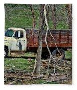 Old Truck At Rest Fleece Blanket