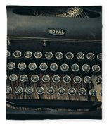 Old Typewriter With Letter Fleece Blanket