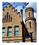 Old Vanderburgh County Jail Fleece Blanket