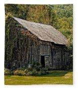 Old Vermont Barn Fleece Blanket