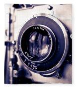 Old Vintage Press Camera  Fleece Blanket