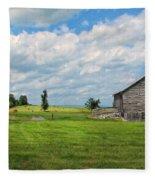 Old Virginia Barn Fleece Blanket