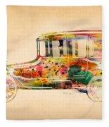 Old Volkswagen3 Fleece Blanket