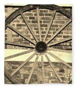 Old Wagon Wheel 1 Fleece Blanket