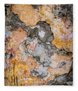 Old Wall Abstract Fleece Blanket