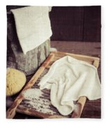 Old Washboard Fleece Blanket