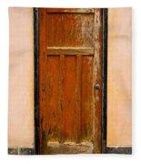 Old Weathered Door Fleece Blanket