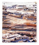 Old Weathered Log On The Sea Shore Fleece Blanket