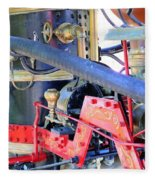 Old West Fire Wagon V2 Fleece Blanket