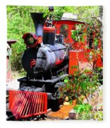 Old West Locomotive 2 Fleece Blanket