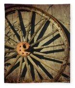 Old West Wagon Wheel Fleece Blanket