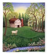 Old White Barn Fleece Blanket