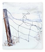 Old Wire Fence Fleece Blanket