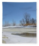 Old Woman Creek - Day After The Storm Fleece Blanket