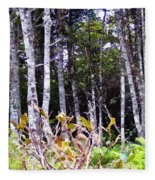 Old Wood Stand Painterly Style Fleece Blanket